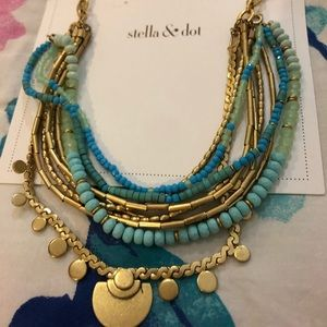 NWT Stella & Dot Isa Disc necklace